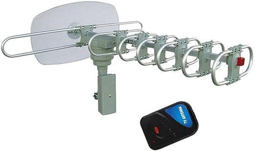 Yardwe Antena Exterior Televisor Digital HDTV Antena Remoto 360 ° Rayos Infrarrojos Control Remoto: Amazon.es: Hogar