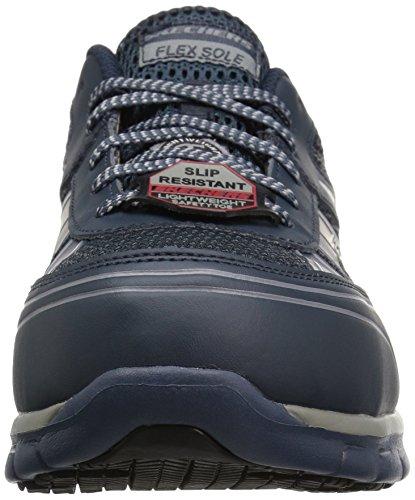 Skechers Mens Sinergia Fosston Work Shoe Navy Grey