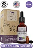 100% Pure Therapeutic Grade Lavender Essential Oil. Premium 4oz Bottle. Orchid and Temple is BOTTLED IN THE USA. Undiluted Lavandula Angustifolia - CALMING, HEADACHE RELIEF, SLEEP AID.