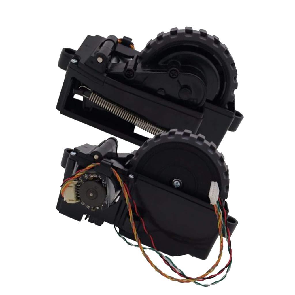 F Fityle 2 Piezas Ruedas Derecha + Izquierda de Motor Piezas de Repuestos de Aspiradoras: Amazon.es: Hogar