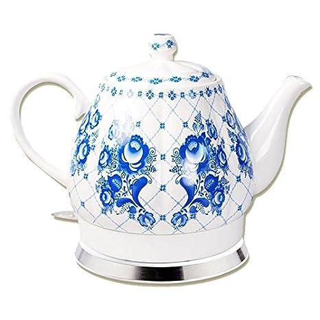 1.500 W Keramik-Wasserkocher WSK-280.rtr mit blauem Blumen-Motiv 2 l