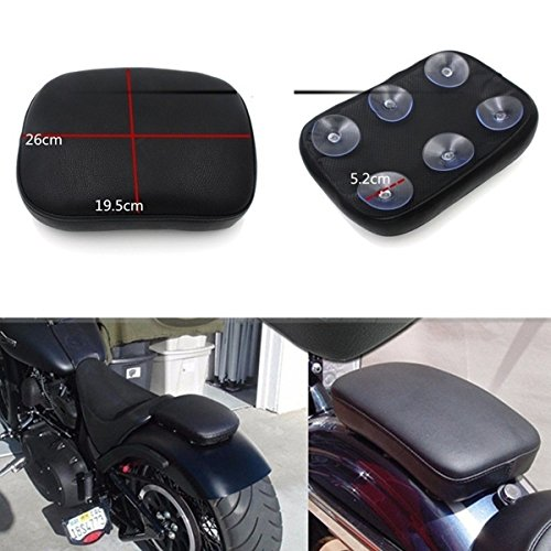 HOT SALE Rear Passenger Seat Pad Cushion Pillion with 6 Suction Covers For Harley Dyna Sportster Softail Touring