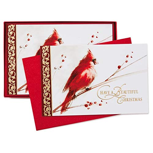 HMK Christmas Boxed Cards - Christmas 40 Count Red Cardinal