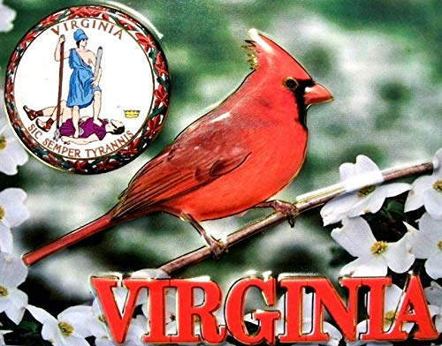 Virginia State Seal - Virginia with State Seal Fridge Magnet