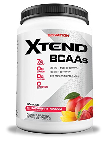 Scivation Xtend BCAA Powder, Branched Chain Amino Acids, BCAAs, Strawberry Mango, 90 Servings