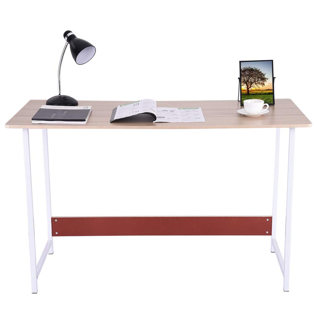 Computer Office Desk, Laptop Table, Lucoo Office Desk Simple Rectangular Dining Table Workstation Home Office Notebook Desktop,Table Chair Desk Writing Desk Table (White) by Lucoo- Furniture