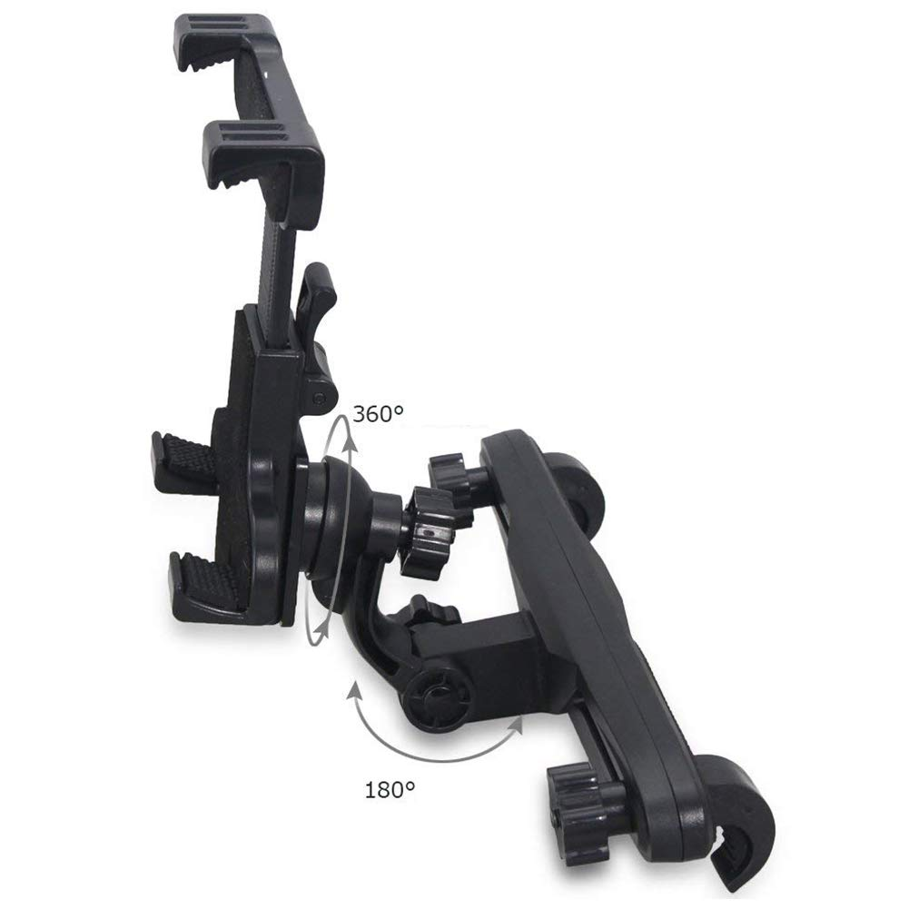Moligh doll Adjustable Car Seat Headrest Mount Holder for Switch/ 7 plus/ Galaxy S8/ (Black) by Moligh doll