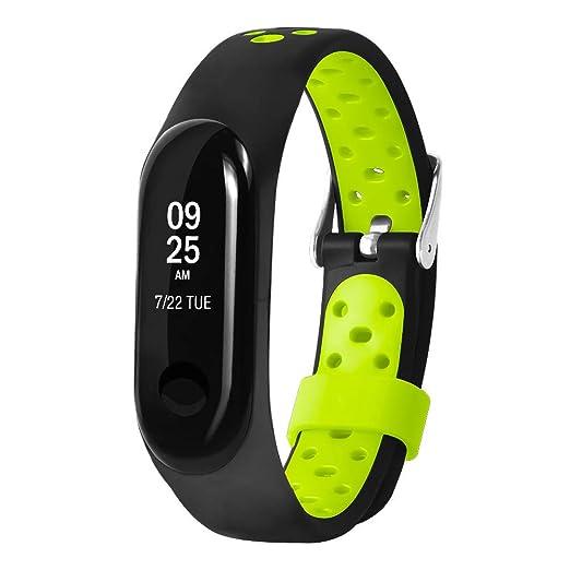 0d330eedd1f6 LANSKIRT Reemplazo Ventilar Correa Reloj Deportivo Soft para la muñeca  Pulsera Accesorios para Relojes Extensibles Pulsera para Xiaomi Mi Band 3   Amazon.es  ...
