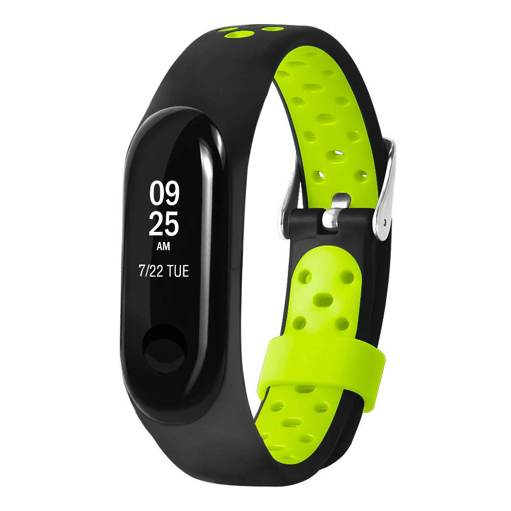 CSSD Clearance Unisex Fashion Replacement Ventilate Sport Soft Wrist Straps Wristbands For Xiaomi Mi Band 3 (Green)