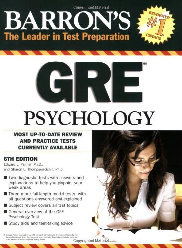 Barron's GRE Psychology (Barron's: The Leader in Test Preparation)