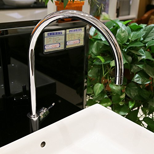 SADASD Modern Copper Bathroom Basin Faucet Table Wash Basin Sink Taps Single Hole Single Handle Ceramic Valve Hot And Cold Water Mixer Tap With G1 2 Hose