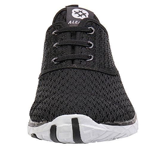 Aleader Mens Quick Dry Aqua Water Shoes Nero (elegante)
