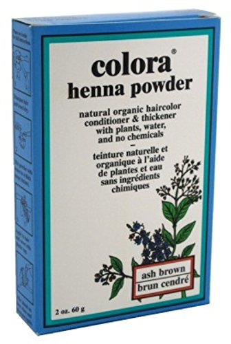 - Colora Henna Powder Hair Color Ash Brown 2oz (2 Pack)