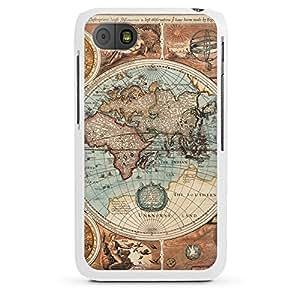 Blackberry Q10Funda Silicona Case Protección cover Vintage Mapa Del Mundo tarjeta Map