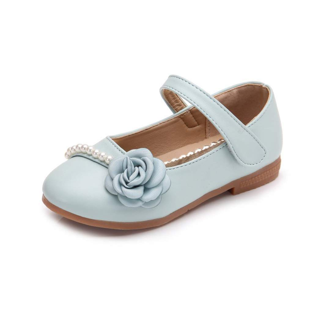 Raylans Girls Floral Pearls Princess Shoe Mary Jane Ballerina Flat Shoes