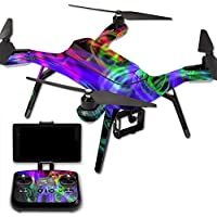 MightySkins Protective Vinyl Skin Decal for 3DR Solo Drone Quadcopter wrap cover sticker skins Neon Splatter