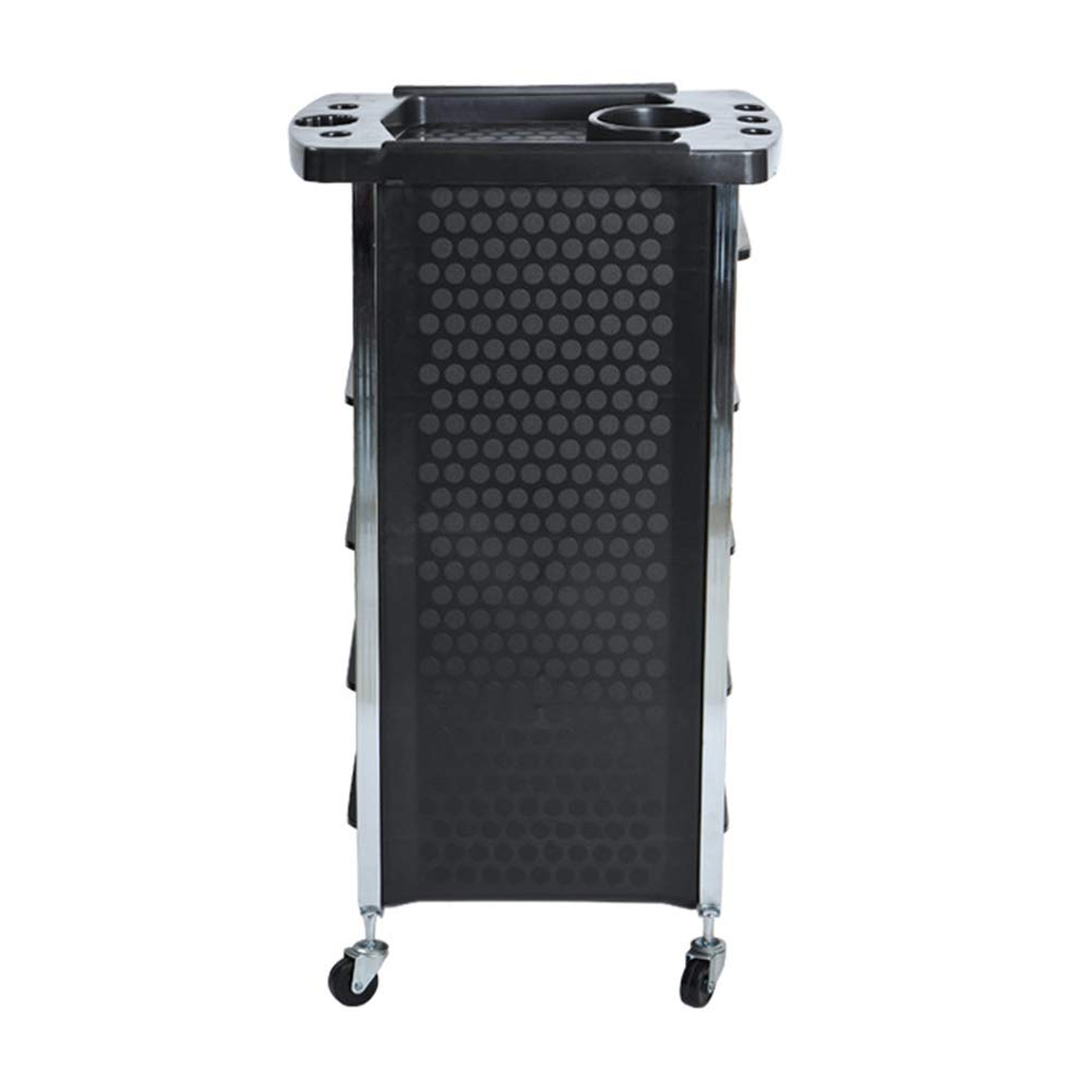Beauty Storage Trolley Hairdresser Maintenance Carts Barber Shop Multi-Function Drawers Trolleys Hair Salon Perm Hair Dyeing Styling with Wheel Tool Car Black by Beauty Storage Trolley (Image #3)