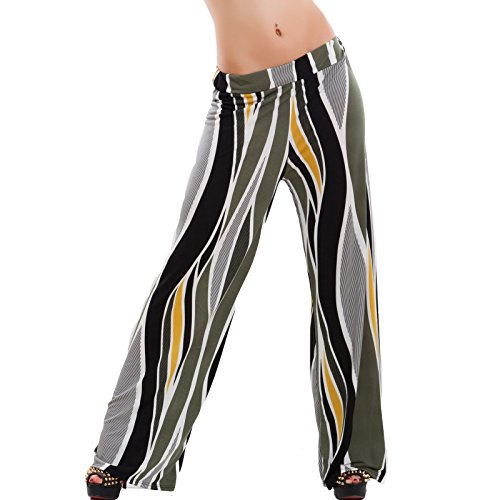 Pantalón Campana Militar Verde Mujer Para Toocool d8YpO70qd