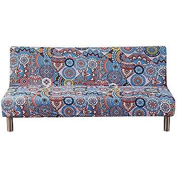 Amazon Com Mifxin Armless Sofa Cover Stretch Floral Sofa