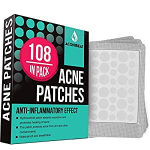 Acne Pimple Healing Patch – Absorbing Cover, Invisible, Blemish Spot, Hydrocolloid, Skin Treatment, Facial Stickers, Two…