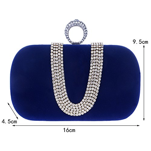 Wedding Evening Elegant Purple Party Ladies Bridal Purse Handbag Bag Bridal Clutch Crossbody Small Handbag Clutch Diamante 5ffP4rq