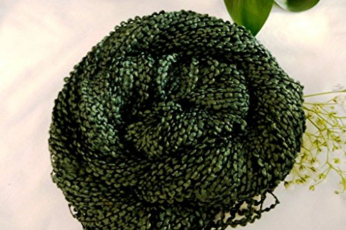 - Fantasy Forest Green Zig Zag Novelty Washable Acrylic Yarn