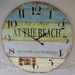 23 Life is Good WELCOME TO THE BEACH Clock