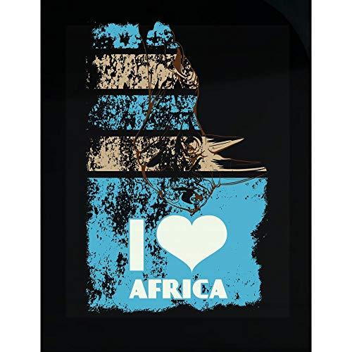 Love Peyton T-shirt - Peyton Winks I Love Africa - Funny & Cute Rhino - Transparent Sticker