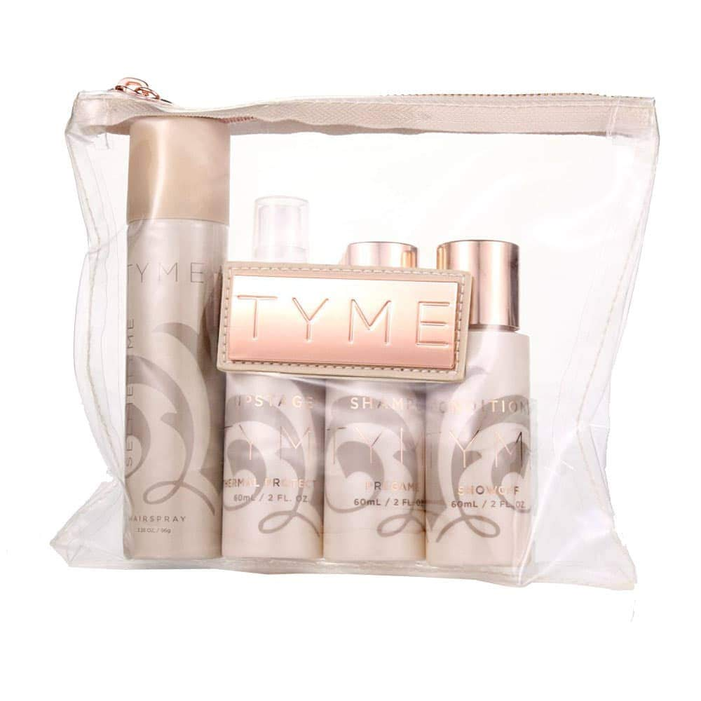 TYME Traveler Kit, Hair Care Product Set for Travel, Includes Travel Makeup Bag by tyme