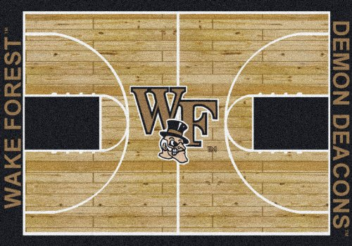 - Milliken Wake Forest Demon Deacons Basketball Home Court Rug (10'9