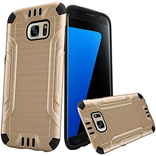 HRWIRELESS(TM) For Samsung Galaxy S7 Shockproof Slim Combat Robust Tough Armor Hybrid Flexible Inner Thick Bumper Sales