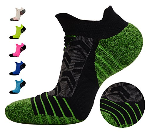 FASTBON Short Compression Socks Men's & Women's Pressure Dispersing Heal for Running, Cycling