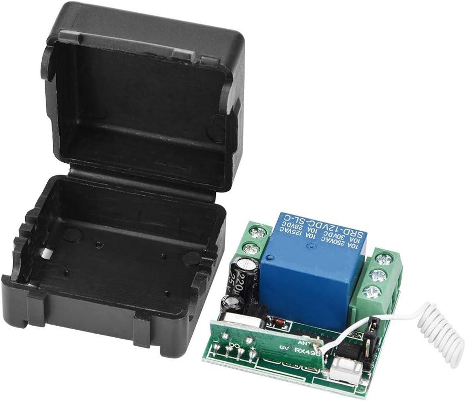 Interruptor de mando a distancia 433 MHz, sistema de transmisor y receptor para protecci/ón de puertas, ventanas y garajes VBESTLIFE