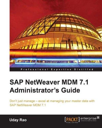 SAP NetWeaver MDM 7.1 Administrator's Guide Pdf