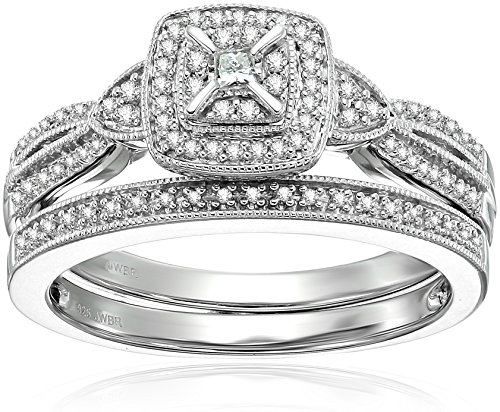 Sterling Silver Diamond Bridal RIng