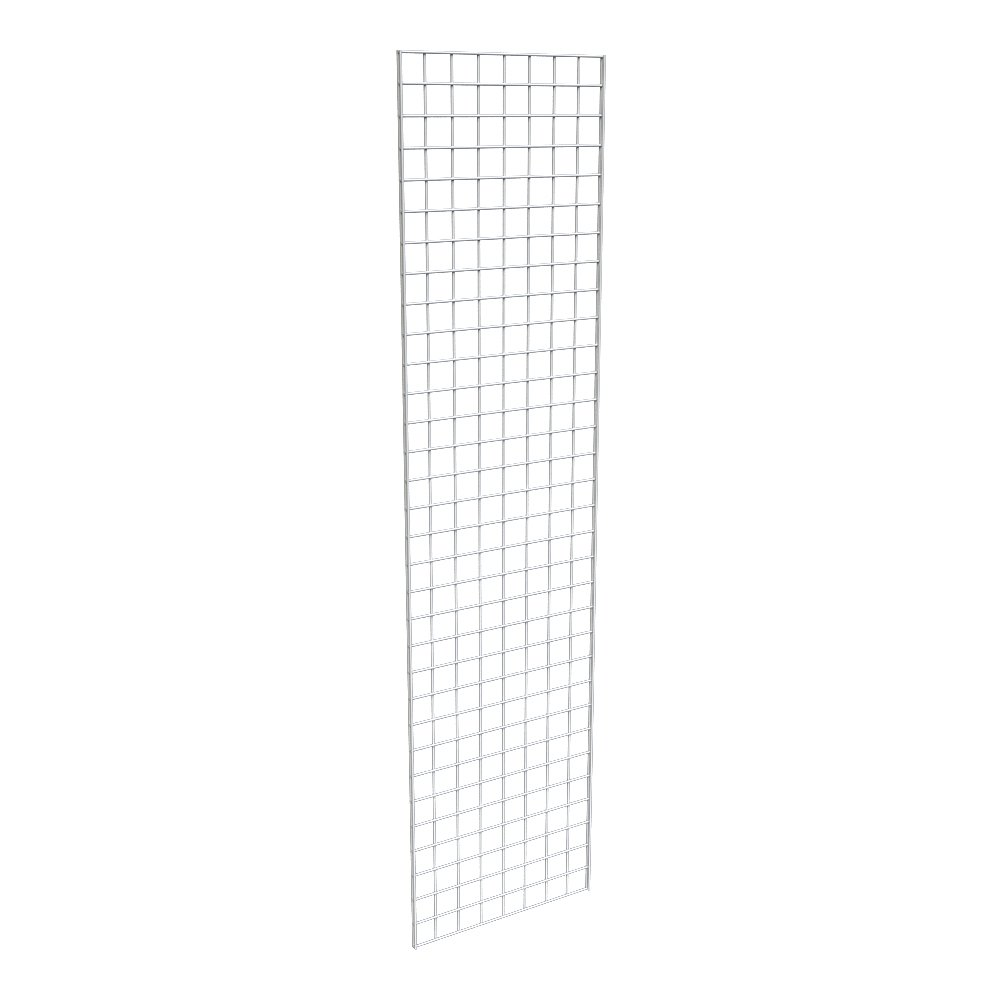 Econoco Commercial Grid Panel, 2' x 8', White (Pack of 3)