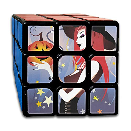 Rubiks Cube Halloween Witch Personalized Speed Cube 3x3