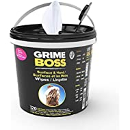 Grime Boss Heavy Duty Wipes for Hands, Equipment, Garden, Auto, Camping, 120-Count