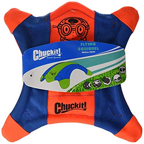 Chuckit Flying Squirrel Spinning Dog Toy Assorted Colors 3 Sizes Available