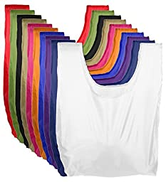 Reusable Grocery Bags | Foldable w/ Integrated String Pouch | Ripstop Nylon Tote