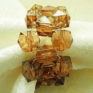 Anillo de servilleta ZBHMB cristal jadella 12 Boda, acrílico fantronix 4,5 cm, transparente