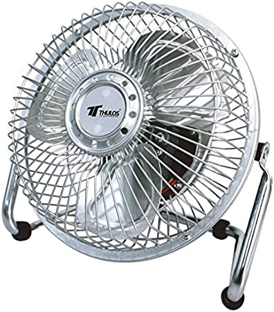 Thulos Ventilador de sobremesa Ø6 TH-DF6 COLOR - PLATEADO: Amazon ...