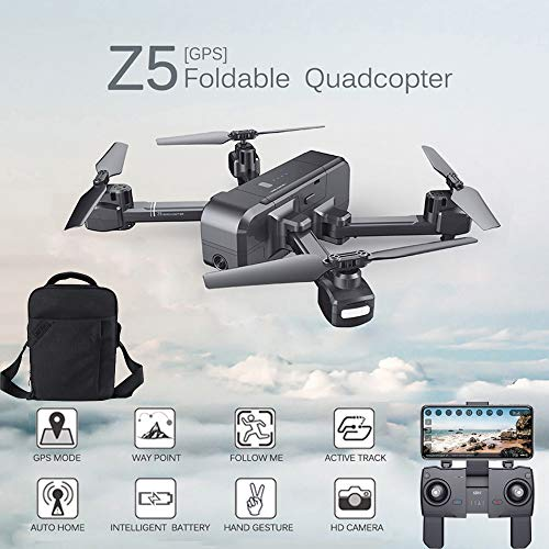MOZATE SJ R/C Z5 GPS 1080P Wide-Angle Camera WiFi FPV RC Drone Quadcopter +Backpack (Black) by MOZATE (Image #9)
