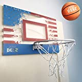 JAPER BEES Retro Patriotic Thick Shatterproof Backboard Over Door Mini Basketball Hoop