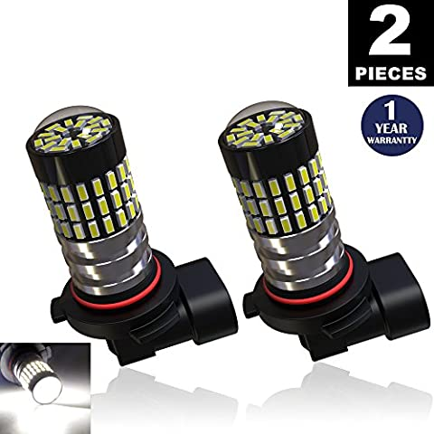 LUYED 2 X 900 Lumens Super Bright 3014 78-EX Chipsets H10 9140 9145 Led Bulbs Used For DRL or Fog Light,Xenon - 9145 Bulb