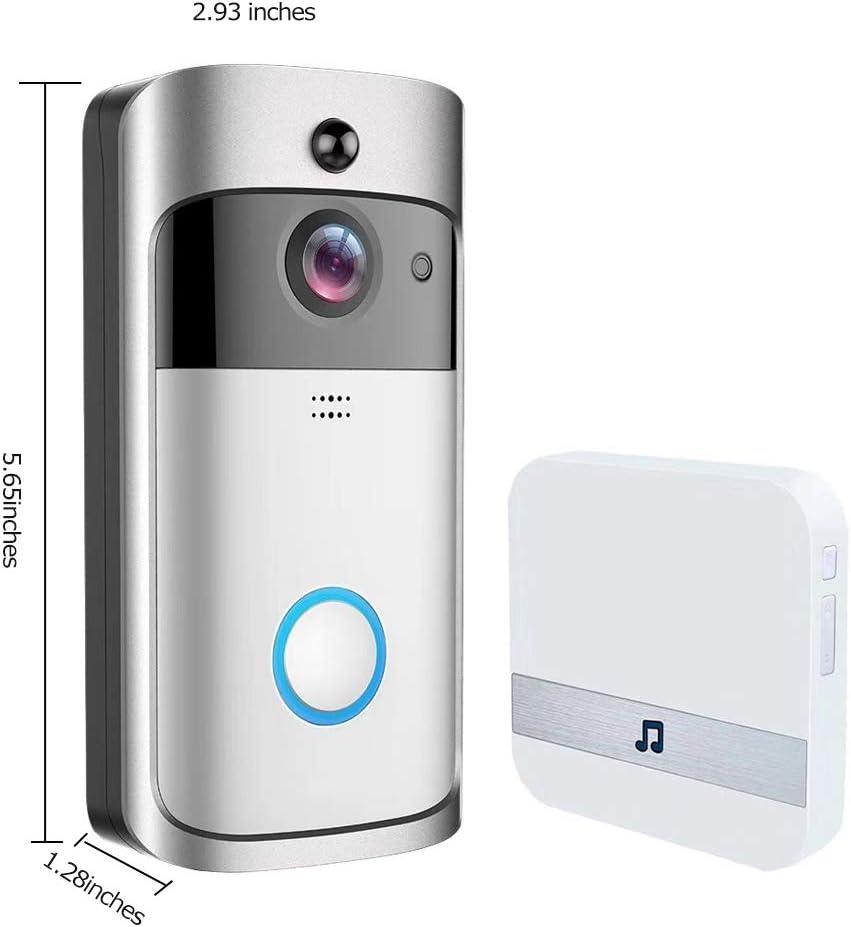 WIFI Vedio Doorbell V5 Interphone Vid/éo IP Intelligent WI-FI Vid/éo Portier Vid/éo Pour Appartements IR Alarme Sans Fil Cam/éra De S/écurit/é