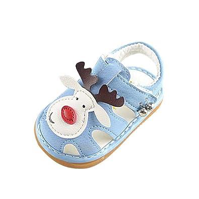 669b320ee5024 Minuya Chaussures de bébé, Chaussures Bebe Fille Cuir Souple Bowknot Ete  Sandales Chaussures Premiers Pas