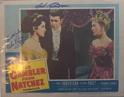 Dale Robertson (d. 2013) & Debra Paget Signed Autographed Vintage
