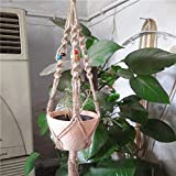 Best Garden Tools 1 Pc 42 Inch Colour Bead Flowerpot Plant Hanger Macrame Jute Rope Garden Decorative Cord with Hook