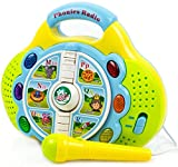 Toysery Phonics Radio Toy for Kids - Educational Learning Toy with Microphone, Music and Colorful Lights - Battery Operated.